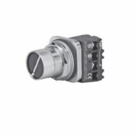 Siemens 52SA3R1 Heavy Duty Non-Illuminated Oiltight/Watertight Selector Pushbutton Operator, 30 mm, 2 Positions, Black