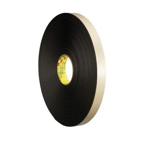 3M™ 021200-30421 Double Coated Foam Tape, 72 yd L x 3/4 in W x 1/32 in THK, Acrylic Adhesive, Polyethylene Foam Backing, Black/White