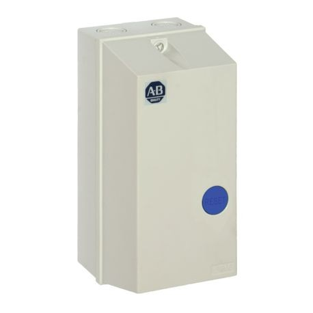 Allen-Bradley 109-C09VDE1D-7 Enclosed Non-Combination Small IEC Starter, 110/120 VAC Coil, Non-Reversing Action, NEMA 4/4X/12/IP66 Enclosure