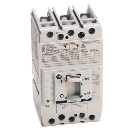 140G - Molded Case Circuit Breaker, G frame, 65 kA, T/M - Thermal Magnetic, Rated Current 60 A, 1 NO/NC AUX, 250V