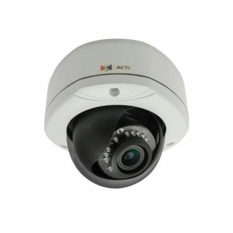 ACTi E83 Dome Camera, Fixed Lens, 5 MP Pixels, MJPEG Video Outputs, Outdoor Indoor/Outdoor