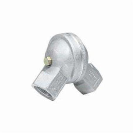 Killark® GUFS-1 Swivel Conduit Elbow, 1/2 in Trade, 90 to 180 deg,  Aluminum, Natural