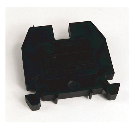 1492-W IEC Terminal Block, Space-Saver Feed-Through Blocks, 6 mm (# 22 AWG - # 10 AWG), Single-circuit terminal block, Blue,