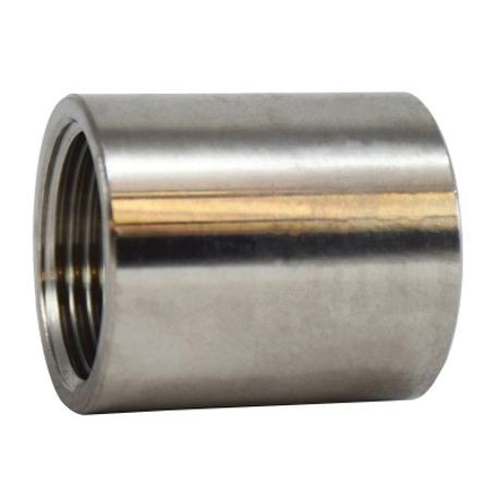 MMM 62414B OD Machined Coupling, 3/4 in Nominal, NPT End Style, SCH 40, 150 lb, 304 Stainless Steel, Import