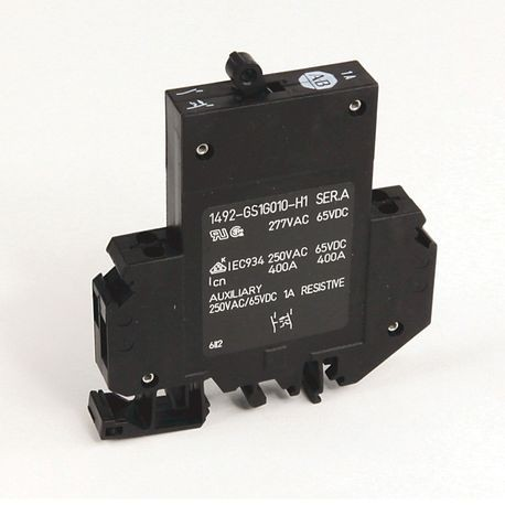1492-GS Miniature Circuit Breaker, 1-pole, 1.0 A, Optional Auxiliary Contact: Normally Open