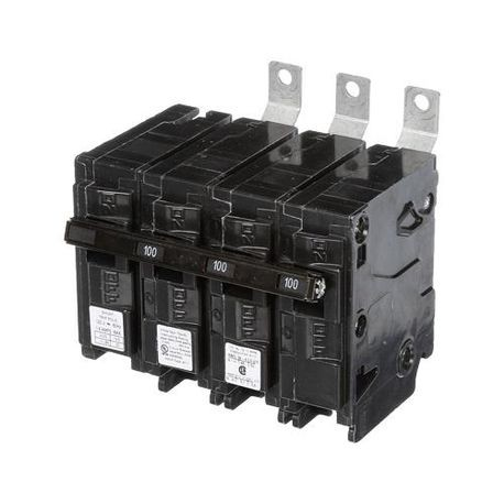 Siemens SpeedFax™ B310000S01 Molded Case Circuit Breaker, 120/240 VAC, 100 A, 10 kA Interrupt, 3 Poles, Thermal Magnetic Trip