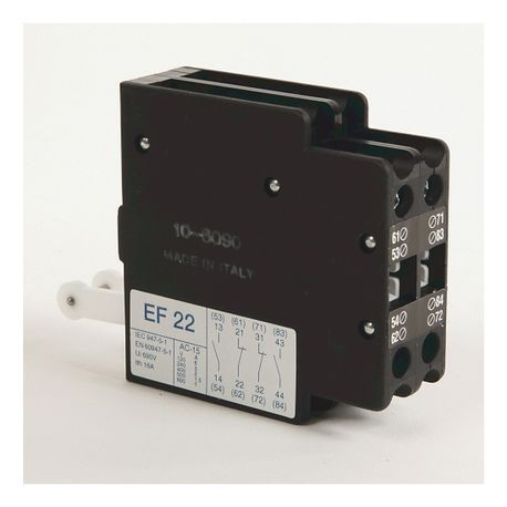 100-G Accessories, Auxiliary Contact Block for mounting between T1 & T2 or between T2 & T3, Max. 2 blocks/contactor