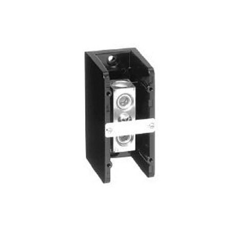 1492 Power Block, Standard Feed-Through/Splicer Block, 1-Pole, Aluminum, 1 Opening Line Side, 1 Opening Load Side, 255 Amps