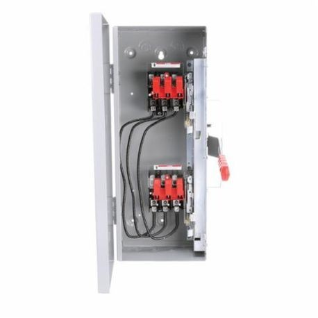 Siemens DTNF321 Heavy Duty Non-Fusible Safety Switch, 240 VAC, 30 A, 10 hp, TPDT Contact Form, 3 Pole