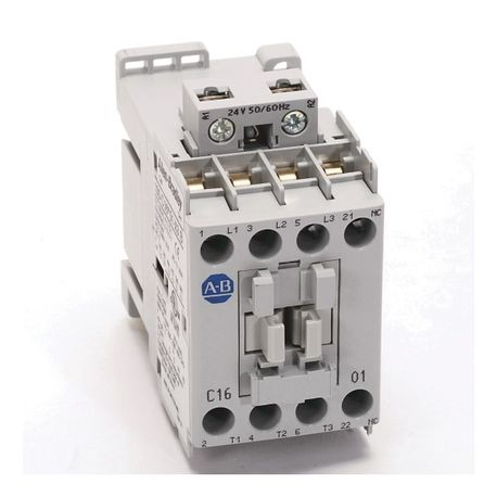 100-C IEC Contactor, 110V 50/60Hz, Screw Terminals, Line Side, 16A, 4 N.O. 0 N.C. Main Contact Configuration, Single Pack