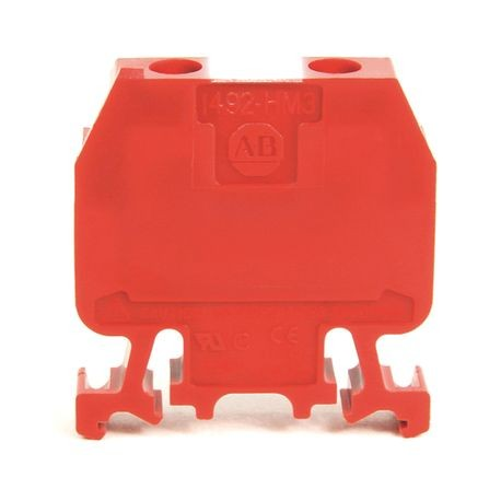 1492-H Finger-Safe Terminal Blocks, H-Block,Code 3,Red,No Bulk Pack (Single Block)