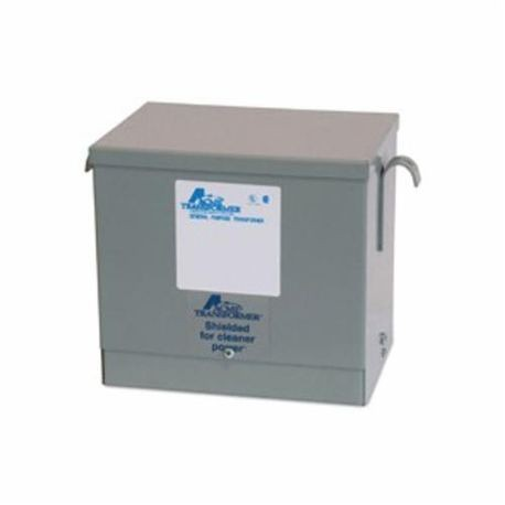 Acme Electric® T2A533081S Dry Distribution Transformer, 480 VAC Delta Primary, 208Y/120 VAC Secondary, 3 kVA, 60 Hz, 3 Phase