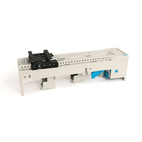 141A MCS Mounting System Adapter Modules, MCS Standard Busbar Module, 63mm x 200mm, 45 Amp, 2 MCS Specific Top Hat Rail