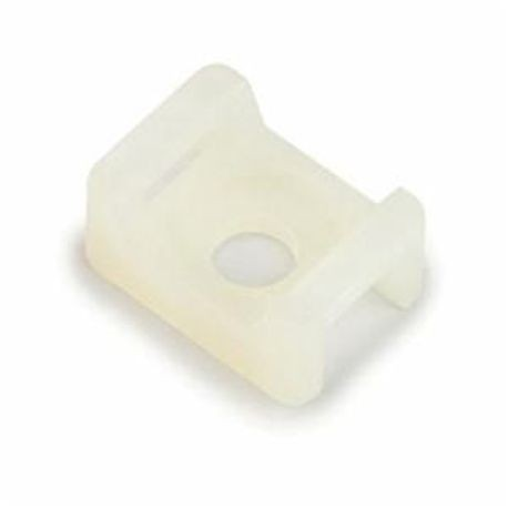 3M™ 070001-32290 CTB Cable Tie Mounting Base, 2-Way, Foam Backed Adhesive/Threaded Mount, 0.21 in W Max, ABS, Beige