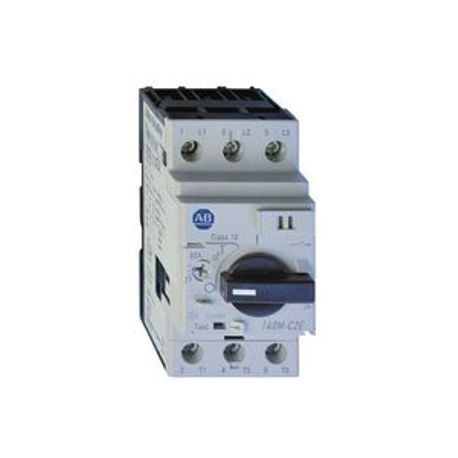 Allen-Bradley 140M-C2E-C10-KN-XC Normal Break Standard Motor Protection Circuit Breaker With Bottom Front Placeholder Auxiliary Trip Contact, 480/600 VAC, 10 A, 65/30 kA Interrupt, Adjustable Thermal/Fixed Magnetic Trip