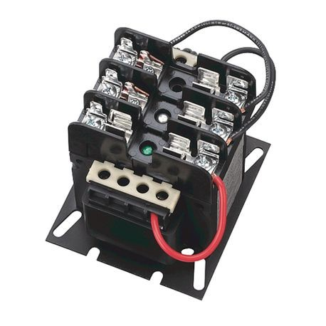 1497 - CCT Standard Transformer, 63VA, 208V 60Hz Primary, 120V 60Hz, 2 Pri - 1 Sec Fuse Blocks, No Cover/ No Sec. Fuse