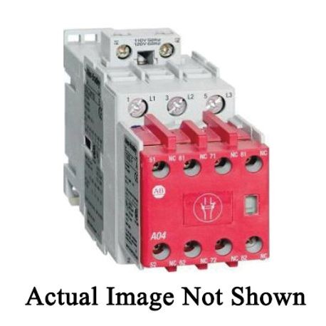 Allen-Bradley 100S-C09EJ431BC IEC Safety Contactor With Electronic Coil, Integrated Diode, 24 VDC Coil, 9 A Maximum Load Current, 4NO Contact Configuration, 4 Pole