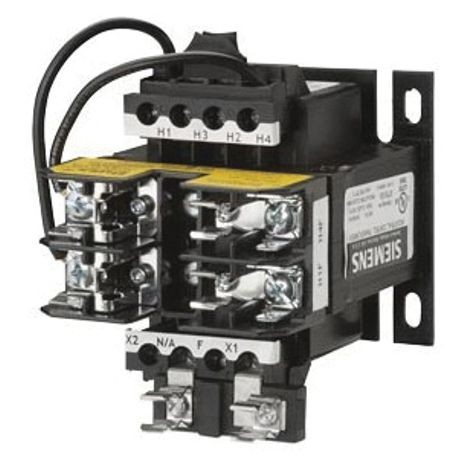 Siemens KT4100 Control Power Transformer, 240/480 VAC Primary, 24 VAC Secondary, 100 VA Power, 50/60 Hz Frequency, 1 Phase