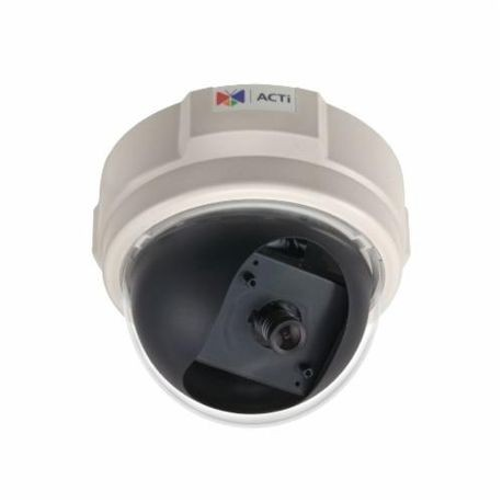 ACTi D51 Dome Camera, Fixed Lens, 1 MP Pixels, MJPEG Video Outputs, Indoor Indoor/Outdoor