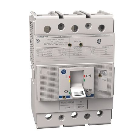 140G - Molded Case Circuit Breaker, I frame, 35 kA, T/M - Thermal Magnetic, Rated Current 200 A