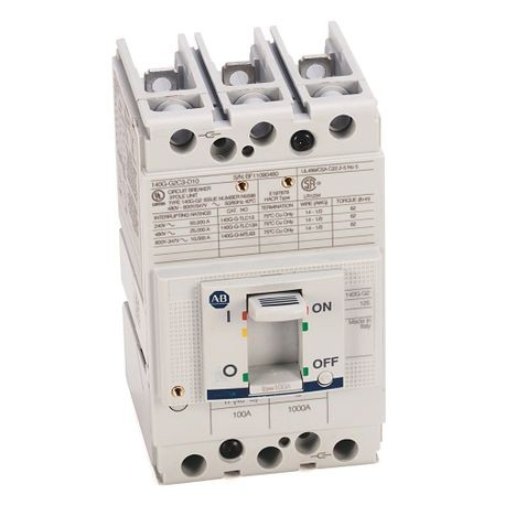 140G - Molded Case Circuit Breaker, G frame, 25 kA, T/M - Thermal Magnetic, Rated Current 100 A