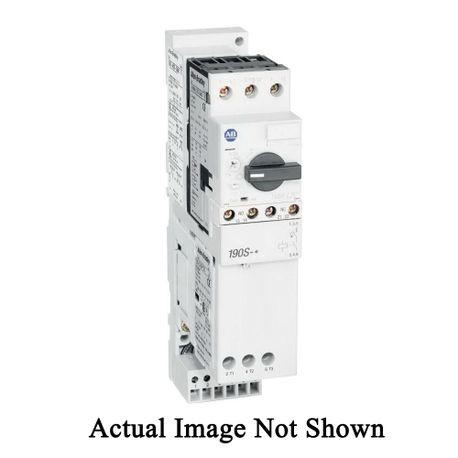 Allen-Bradley 190S-AND1-CB63C Compact IEC MCS Starter With MPCB, 110/120 VAC Coil, Non-Reversing Action, Open Enclosure