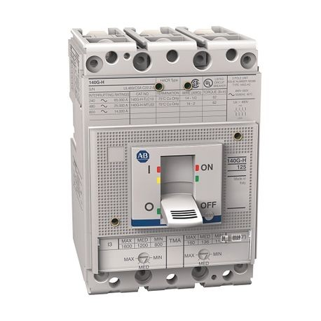 140G - Molded Case Circuit Breaker, H frame, 25 kA, T/M - Thermal Magnetic, Rated Current 100 A