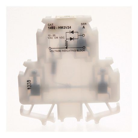 1492-H Finger-Safe Terminal Blocks, H-Block,Code 2,White,No Bulk Pack (Single Block)