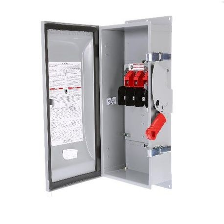 Siemens HNFC363J Enclosed Heavy Duty Non-Fusible Safety Switch, 600 VAC, 100 A, 40 hp, 100 hp, TPST Contact Form, 3 Pole