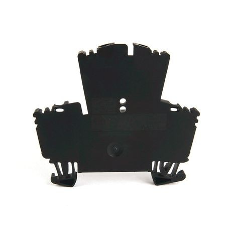 1492-J IEC Terminal Block, Two-Circuit Feed-Through Block, 2.5 mm (# 24 AWG - # 12 AWG), Standard Feedthrough, Black,