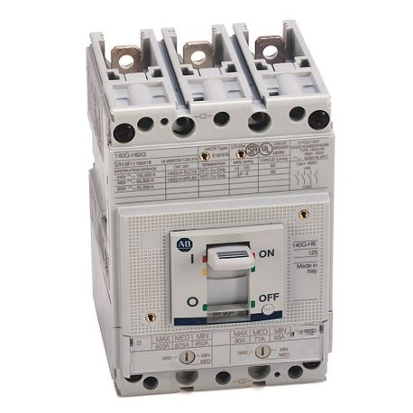 140G - Molded Case Circuit Breaker, H frame, 65 kA, T/M - Thermal Magnetic, Rated Current 125 A