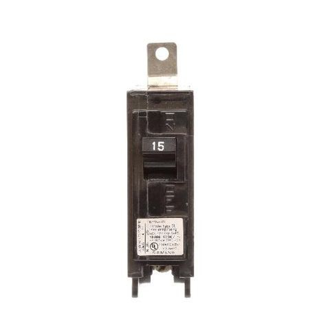 Siemens SpeedFax™ B115HID Molded Case Circuit Breaker, 120 VAC, 15 A, 10 kA Interrupt, 1 Poles, Thermal Magnetic Trip