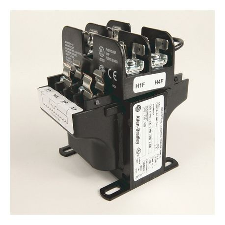 Rockwell Automation 1497A-A11-M7-1-N Control Circuit Transformer, 230/460/575 VAC Primary, 95/115 VAC Secondary, 1000 VA Power, 50/60 Hz Primary Frequency