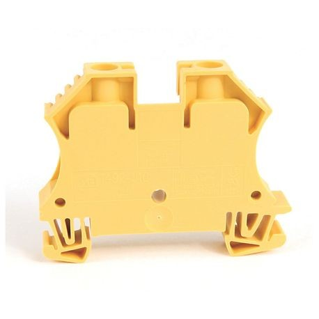 1492-J IEC Terminal Block, One-Circuit Feed-Through Block, 10 mm (# 22 AWG - # 8 AWG), Standard Feedthrough, Yellow,
