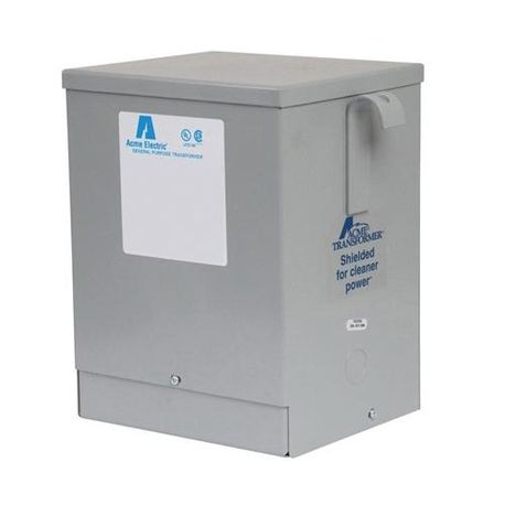 Acme Electric® T2530144S 4-Winding Dry Distribution Transformer, 240/480 VAC Primary, 120/240 VAC Secondary, 5 kVA, 60 Hz, 1 Phase