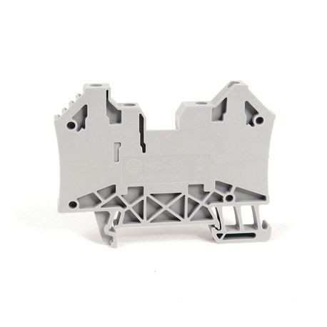 1492-J IEC Terminal Block, One-Circuit Feed-Through Block, 4 mm (# 30 AWG - # 10 AWG), 2 Connection points on each side, Gray (Standard),