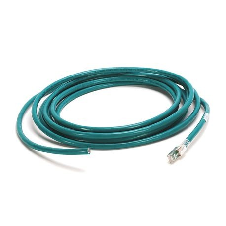 1585 Ethernet Cables, 8 Conductors, RJ45, Straight Male, Standard, RJ45, Straight Male, Teal 600V, 100BASE-TX, 100 Mbit/s, 600V