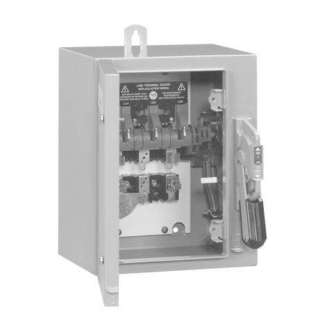 1494G Enclosed Disconnect Switches, 100A, Type 4/4X - Enclosure Code C, 3 pole, three phase, Class J fuse clips, 600VAC