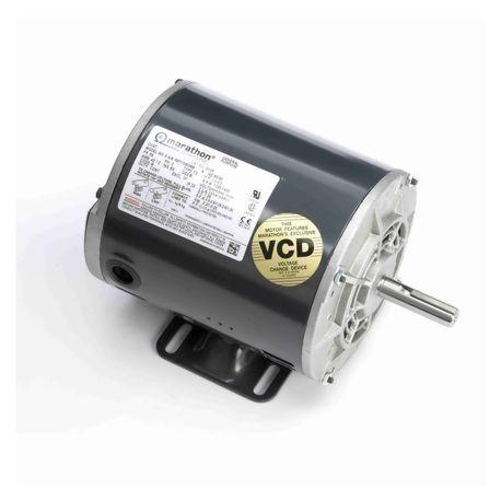 Marathon® 184TTFC4026 4-Pole Continuous Duty AC Motor, 5 hp, 208 to 230/460  VAC, 60 Hz, 3 ph, 184T, 1730 rpm, Rigid Base Mount, TEFC Enclosure