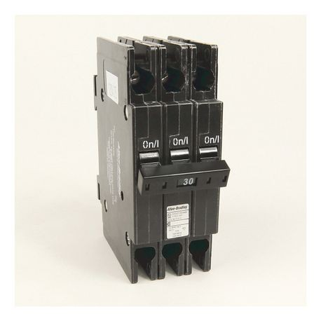"1492-MC Circuit Breaker, 1492 Miniature Circuit Breaker, Circuit Breaker - ½"" wide per pole, DIN rail mounting, 10 kA, 3 Poles, 30 Amps, Standard Terminal, None"