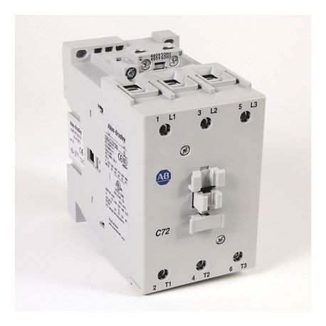 100-C IEC Contactor, 110V 50/60Hz, Screw Terminals, Line Side, 72A, 1 N.O. 0 N.C. Auxiliary Contact Configuration, Single Pack