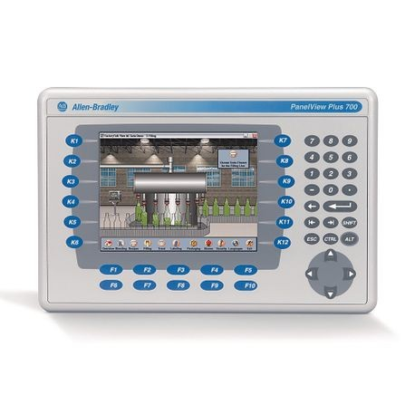 2711 PanelView Plus 6 Terminal, 700 Model, Keypad/Touch, Color, Standard  Communication - Ethernet & RS-232, DC Input, Windows CE 6 0 with Extended