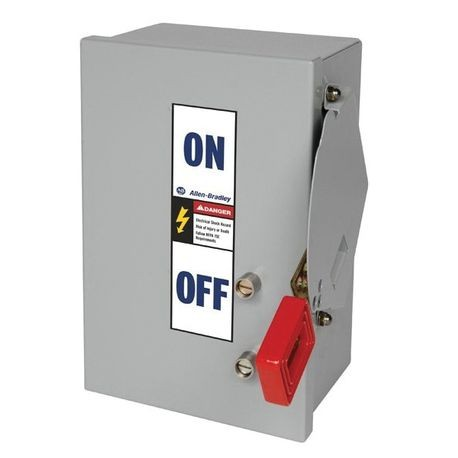 Allen-Bradley 1494H-BF3H2 Fusible Heavy Duty Safety Switch, 240 VAC, 30 A, 10 hp, 20 hp, 30 hp, 3 Pole