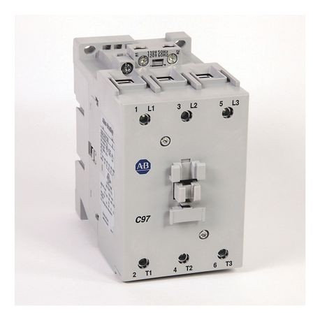 Rockwell Automation 100-C97DJ00 IEC Contactor, 24 VDC Coil, 97 A Maximum Load Current, 0NO-0NC Contact Configuration, 3 Pole