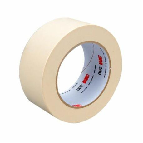 3M™ 200 Masking Tape, 48 mm W x 55 m L, 4.4 mil THK, White