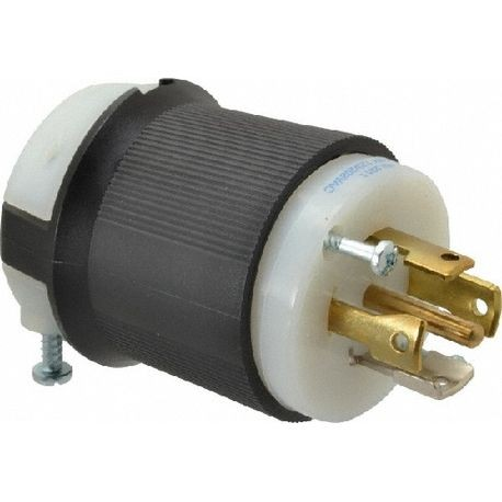 Hubbell, Twist Lock Plug, 3 Pole, 4 Wire, 30 Ampere, 480 Volts, NEMA on