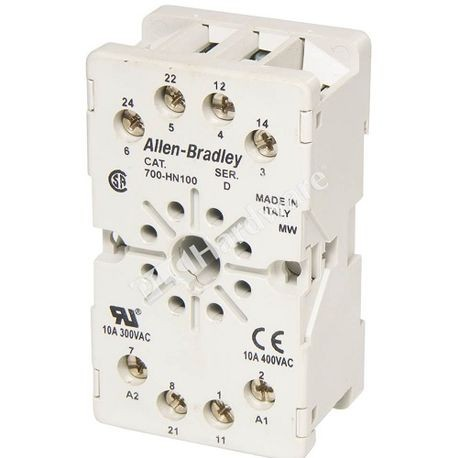 Allen-dley, Relay Socket, Panel or DIN Rail Mount, 1-1/2 Inch, 1-1/32 on