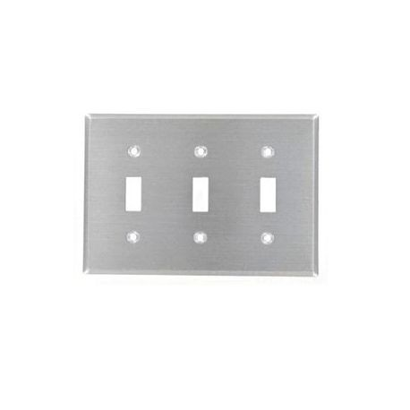 Leviton 84011 40 Standard Size Traditional Wallplate 3 Gangs