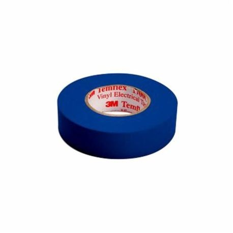 3M™ Temflex™ 1700C General Purpose Single Coated Electrical Tape, 3/4 in W x 66 ft Roll L, 7 mil THK, Blue