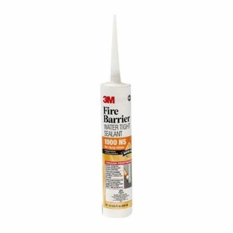3M™ 1000NS Water Tight Fire Barrier Sealant, 10.1 fl-oz Cartridge, Gray, 3 hr Fire Rating